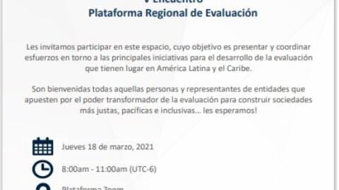V Encuentro Plataforma Regional de Evaluación