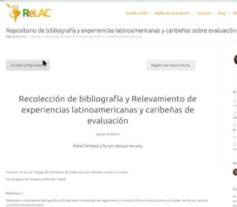 Primer Repositorio de bibliografía y experiencias sobre evaluación de Latinoamérica y el Caribe